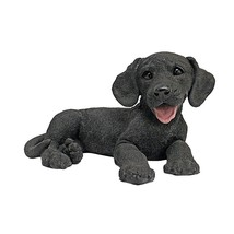 Black Lab Labrador Retriever Dog Statue Figurin... - $50.90