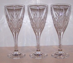 """Lovely BOHEMIA Crystal CANTERBURY Set of 3 WINE GOBLETS 7 5/8"""" - $32.29"""