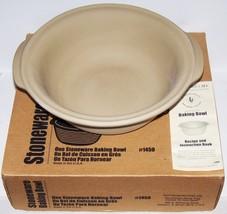 Wonderful PAMPERED CHEF Stoneware LARGE BAKING BOWL and Pan Scraper #145... - $47.72