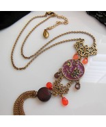 Guess Vintage Asian Victorian Inspired Pink Pur... - $24.99