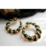 Vintage Avon 'Spiral Color' Emerald Green Ename... - $13.85