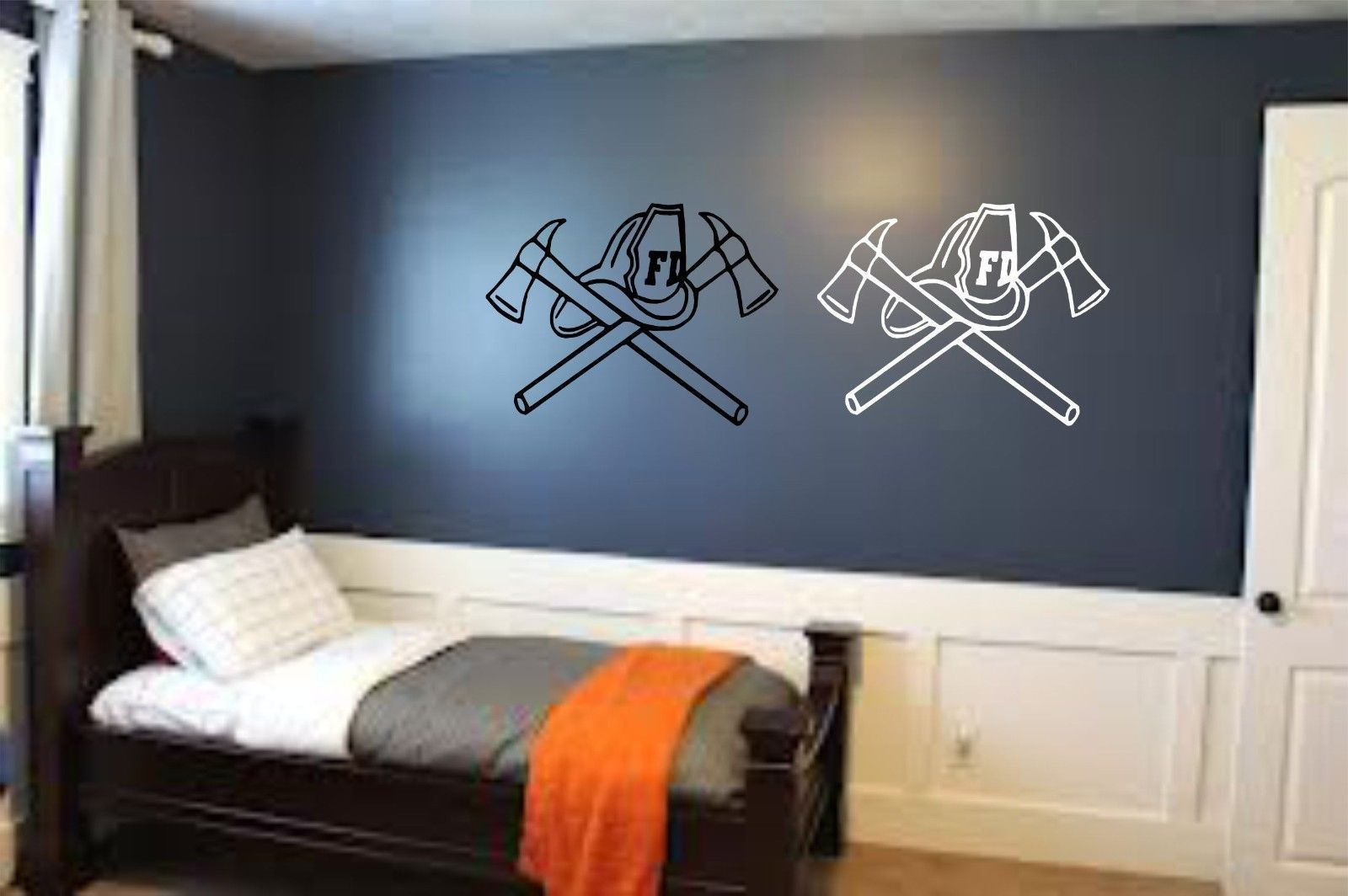 Fireman Firefighter Rescue Axe Room Wall Art Home Decor Mural Vinyl Decal D