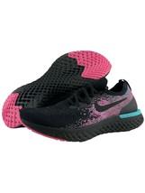 Nike Epic React Flyknit 10 Mens Black Hyper Jade Pink Miami Vice Running... - $148.45