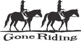 Gone Horse Ridding Cowboy Cowgirl Car Truck Window Laptop Vinyl Decal St... - $7.99 - $12.99