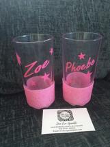 personalized name glitter hi ball tumbler glass flower girl, childs gift... - $8.64