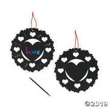 Magic Color Scratch Heart Wreaths  - $9.11