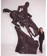 Mountain Man Lost Wax Bronze Sculpture Statue by Remington Heroic - $24,995.00