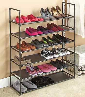 Shoe Rack Storage Organizer Stackable 6 Tiers Shelves Shoe Holder Stand Closet