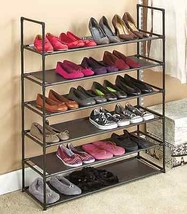 Shoe Rack Storage Organizer Stackable 6 Tiers Shelves Shoe Holder Stand ... - $66.74