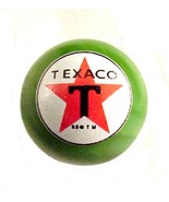 Texaco Star Gas Gasoline Logo Marble Green Glas... - $8.00