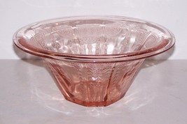"""LOVELY VINTAGE  ANCHOR HOCKING PINK PRINCESS DEPRESSION GLASS 9"""" BOWL - $24.82"""