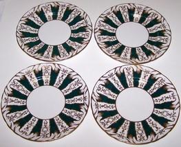 "GORGEOUS VINTAGE SET OF 4 TUSCAN ENGLAND BONE CHINA 8 3/8"" LUNCHEON PLATES - $20.63"