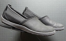 """Women's Merrell """"Black' Oiled leather Casual Loafer Sz. 40/9 Excellent! - $31.56"""