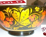 Vintage russian folkart lacquer small bowl   spoon thumb155 crop