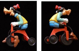 Disney Goofy Figure On Bicycle Toy Vintage - $19.99