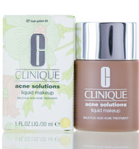 Clinique Acne Solutions Liquid Makeup Foundation 1 fl oz - 07 Fresh Golden NEW  - $17.77