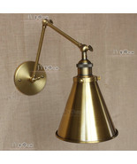 20TH Library Swing Arm Antique Brass Sconce Cast Iron Wall Lamp Edison L... - $73.38+