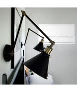 20TH C. Library Wall Sconce Adjustable Swing Arm Wall Lamp Indoors E27 L... - $79.13+