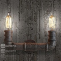 Vintage Industrial Style Pipe Wall Sconce Antique Rust Finish Fixture Steampunk - $78.18