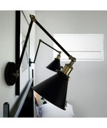 Industrial Swing Arm Wall Lamp Warehouse Ambient Light 20th. C. Library ... - $82.87