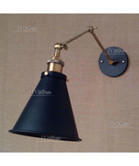 20TH C. Library Double Sconce - Aged Steel Black & Bronze Finish Wall La... - $61.25