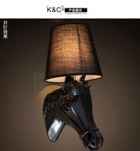 Horse Head Lamp European Style Home Luminaire Wall Sconce Creative Wall ... - $85.00