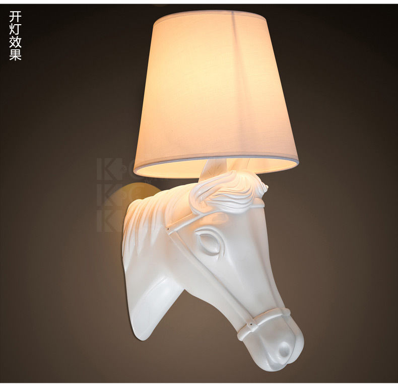 Horse Head Lamp European Style Home Luminaire Wall Sconce Creative Wall Ligt