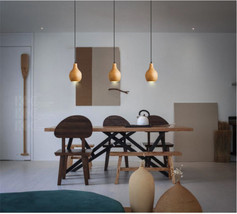 Novelty Simple Style Wood Shade Pendant E27 Hanging Light Ceiling Lamp New&Hot - $138.76