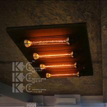 Vintage 4 Edison Filament Bulb Flush Mount Ceiling Lamp / Wall Sconce RH Fixture - $247.43