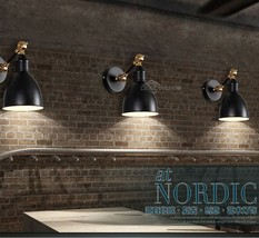 Modern Nordic Style Metal Shade Wall Sconce Adjustable Single Arm Wallmount New - $135.20