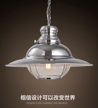 Restoration UFO Style Ceiling Lamp E27 Light Fixture Cafe Chrome Finish Pendant - $279.17