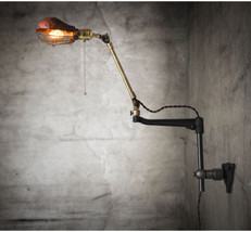 New O.C. White Vintage Style Brass Wall Sconce Semi-shade cage Wall Lamp E27 - $161.88