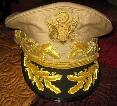 US GENERAL Douglas MacArthur's AUTHENTIC UNIFORM KHAKI HAT NEW ALL SIZES CP MADE