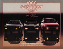 1986 Plymouth CONQUEST COLT VISTA brochure catalog US auto show Mitsubishi - $6.00