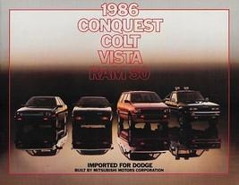1986 Dodge CONQUEST COLT VISTA RAM 50 brochure catalog US auto show Mits... - $9.00