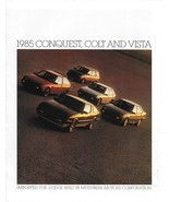 1985 Dodge CONQUEST COLT VISTA brochure catalog US auto show Mitsubishi - $6.00