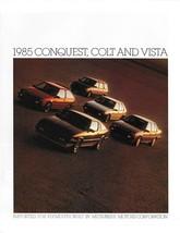 1985 Plymouth CONQUEST COLT VISTA brochure catalog US auto show Mitsubishi - $6.00