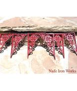 6 Cast Iron Wall Shelf Brackets Corbel VICTORIAN Braces RED bz - $69.98