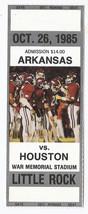 1985 NCAA Football Proof Ticket Full Unused Houston @ Arkansas October 26th - $9.50