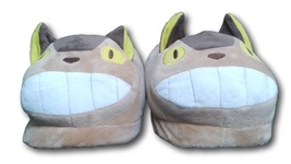 Brown Totoro Bus Cute Kawaii Cosplay Adult Plush Rave Shoes Slippers - t... - $10.99