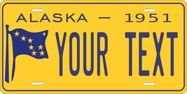 Alaska 1951 Personalized Tag Vehicle Car Auto License Plate - $16.75