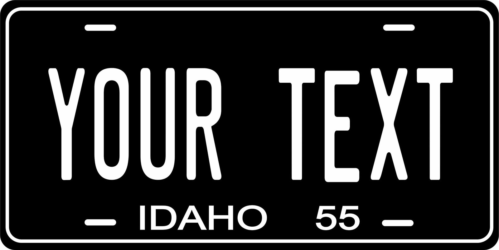 Idaho 1955 Personalized Tag Vehicle Car Auto License Plate