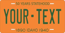 Idaho 1940 Personalized Tag Vehicle Car Auto License Plate - $16.75
