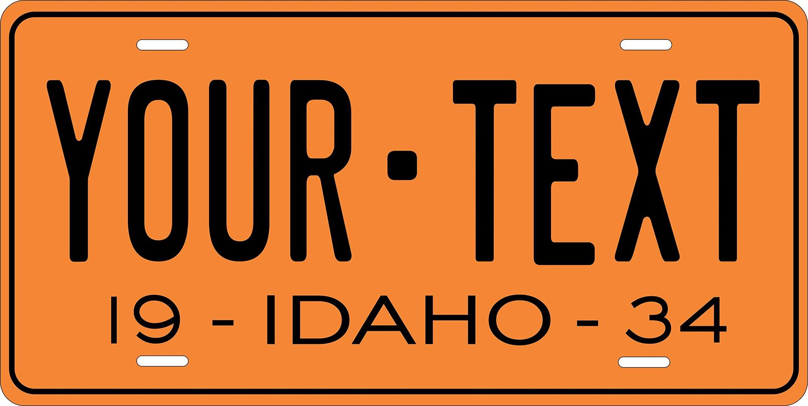 Idaho 1934 Personalized Tag Vehicle Car Auto License Plate