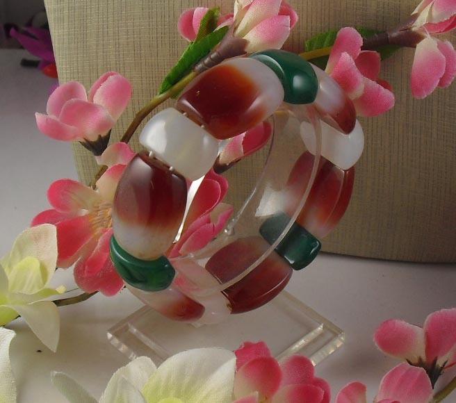 Pure natural agate bracelet