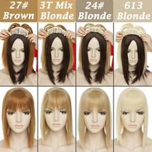NEW 11'' Lady Hair Topper Real One Piece Full Head Clip In Hair Extension image 4