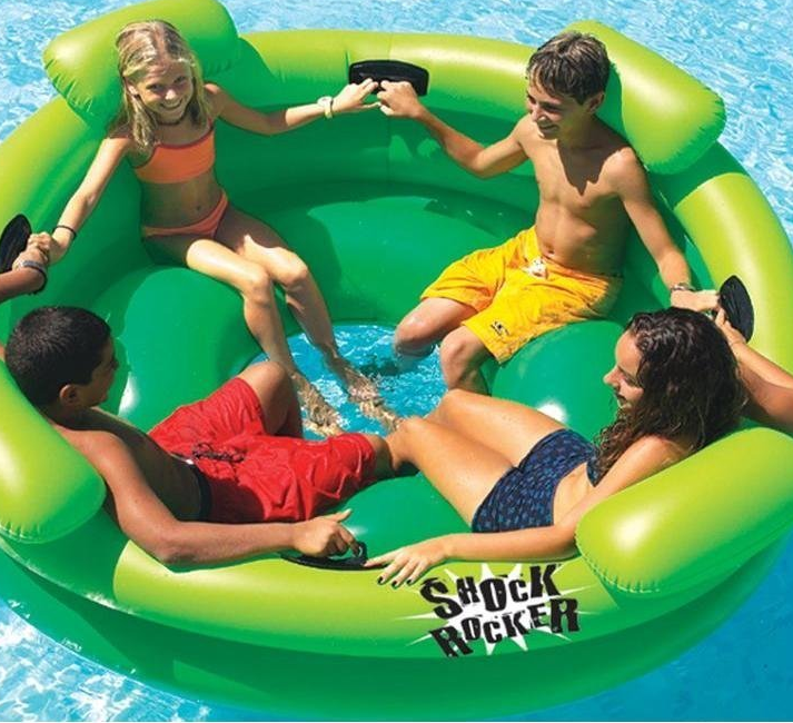 Swimming Pool Float Toy Kids Game Inflatable Water Center Boat Outdoor Backyard Floats Rafts