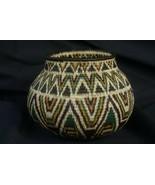 Museum American Wounaan Indian Hösig Di Minute Diamond Motif Art Basket ... - $350.55