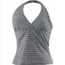 Speedo Women's Halter Tankini Style Swimsuit Top, Black & White, Size 10 - $16.82