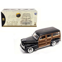 1948 Ford Woody Black 1/18 Diecast Model Car by Road Signature 20028BLK - $105.23